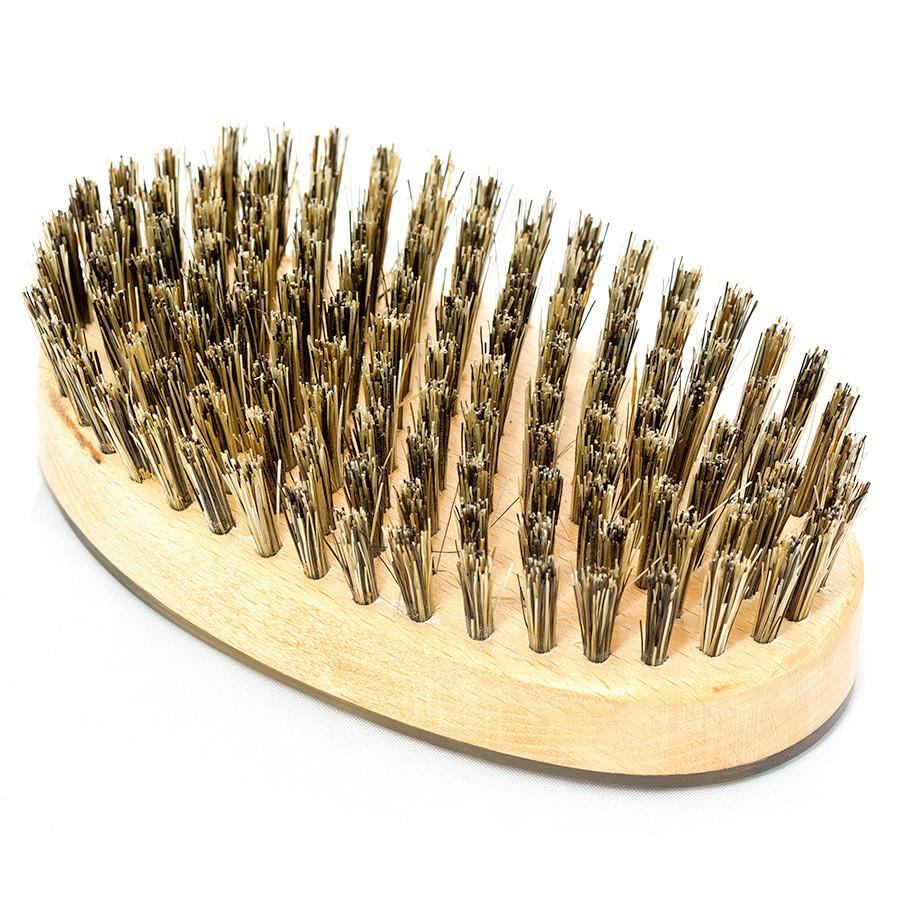 Abbeyhorn Ox Horn, Wood and Natural Bristle Oval Hair Brush Hair Brush Abbeyhorn