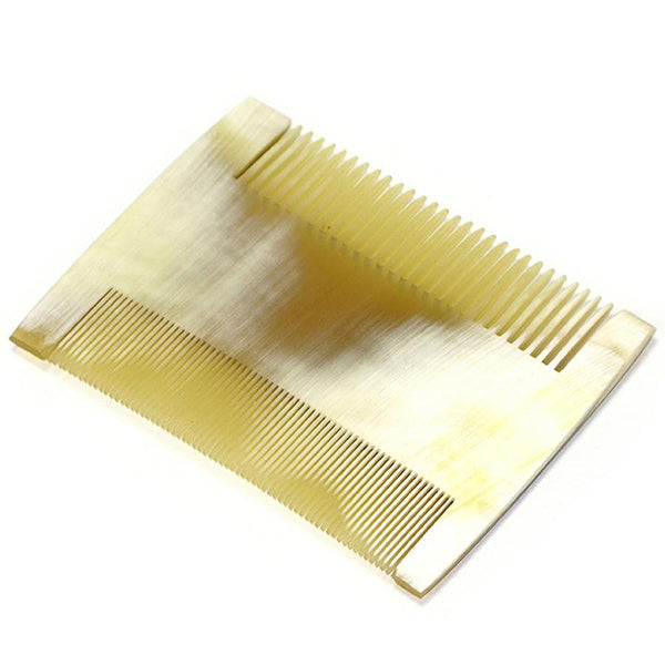Abbeyhorn Ox Horn Double Sided Comb, 92mm - Fendrihan - 2