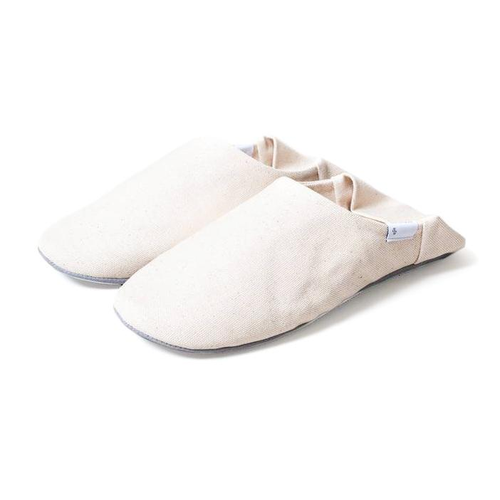 ABE Canvas Home Shoes, Natural Spa Slippers Japanese Exclusives