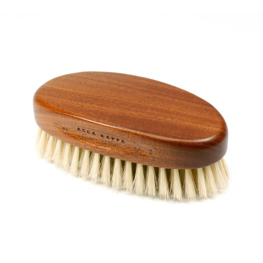 Acca Kappa Military Style Hair Brush, Kotibe Wood and Pure Boar Bristles Hair Brush Acca Kappa
