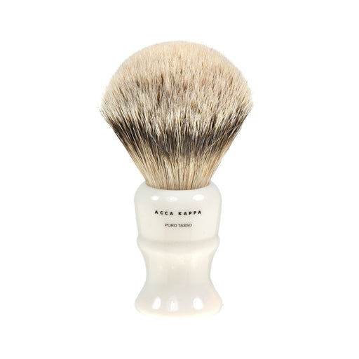 Acca Kappa Silvertip Badger Shaving Brush in Ivory, Medium - Fendrihan