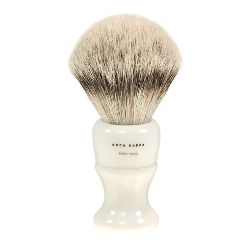 Acca Kappa Silvertip Badger Shaving Brush in Ivory, Large - Fendrihan