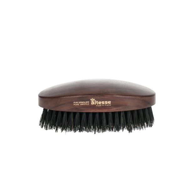 Altesse Military Hairbrush with Light or Dark Pure Bristles