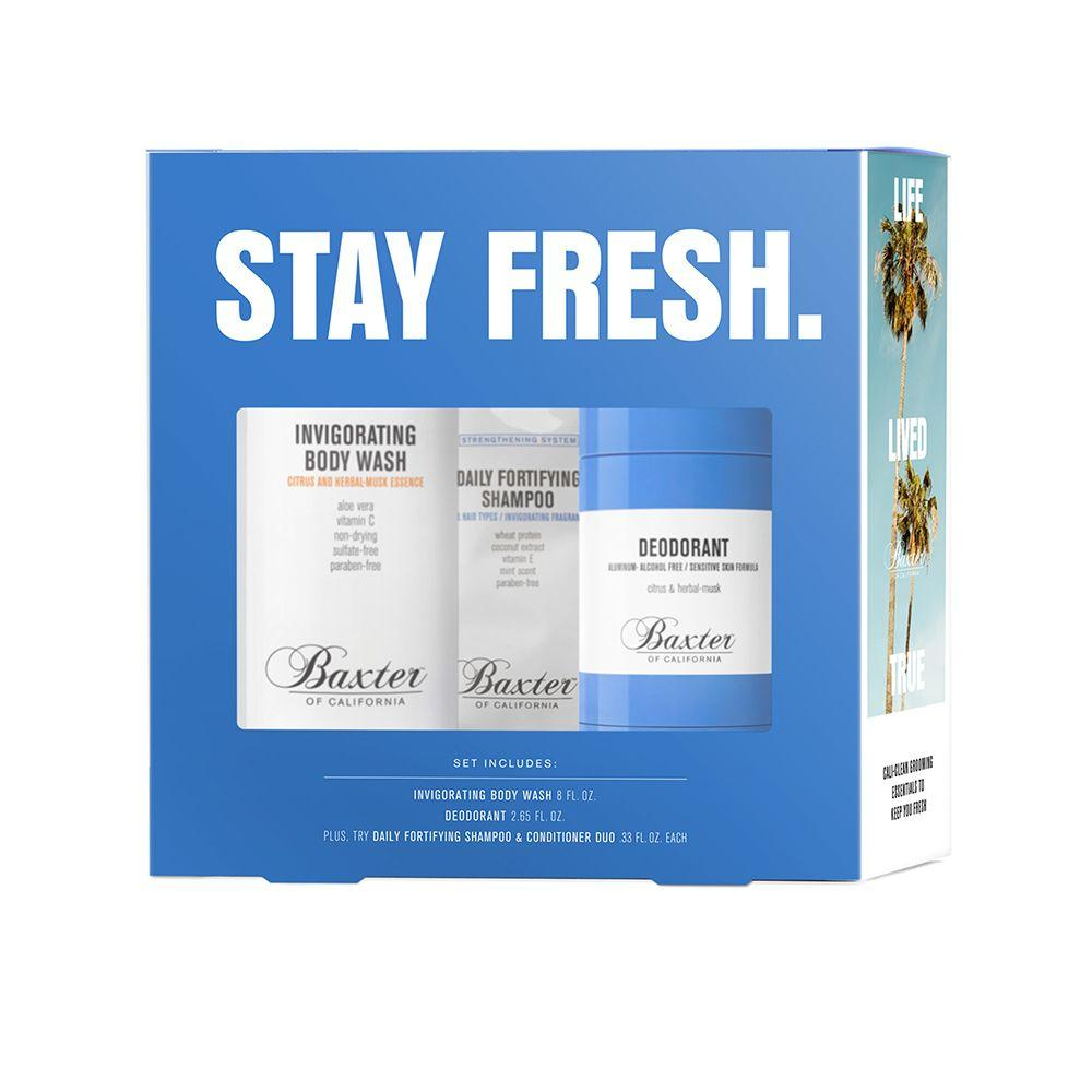 Baxter of California Stay Fresh Gift Set Men's Grooming Kit Baxter of California
