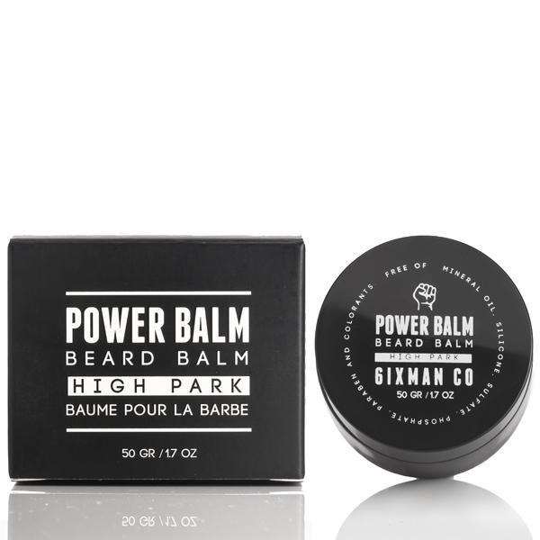 6IXMAN Power Balm Beard Balm, High Park