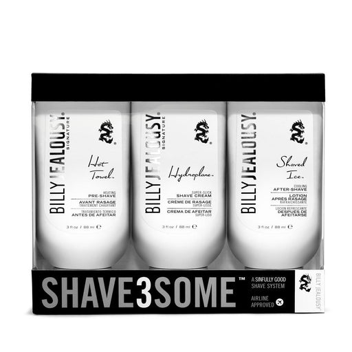 Billy Jealousy SHAVE3SOME Travel-Size Shave Trio - Fendrihan