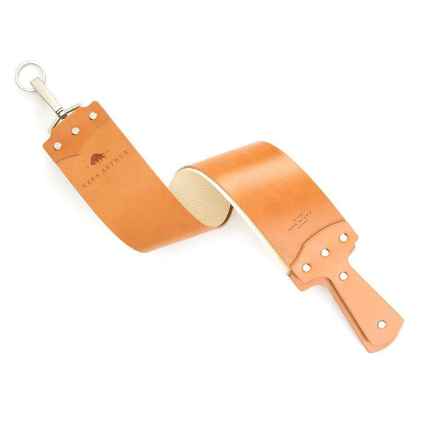 Ezra Arthur English Bridle Razor Strop in Golden Tan