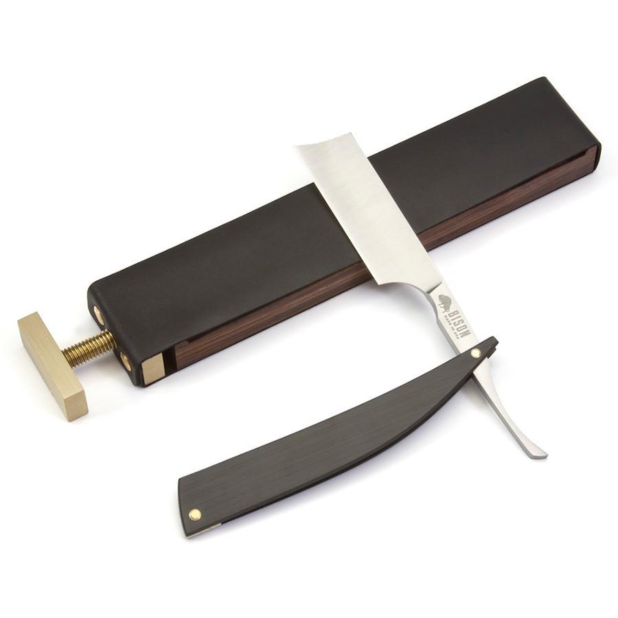 Ezra Arthur Paddle Strop and Razor Case Leather Strop Ezra Arthur