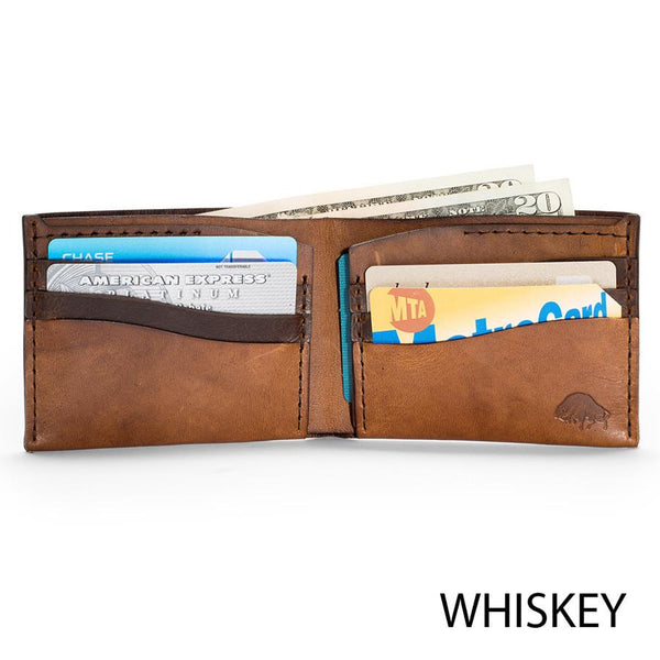 Bison No. 8 Wallet in Choice of Chromexcel Leather or English Bridle Leather - Fendrihan - 5