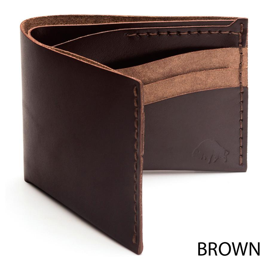 Ezra Arthur No. 8 Wallet in Choice of Chromexcel Leather or English Bridle Leather Leather Wallet Ezra Arthur Brown