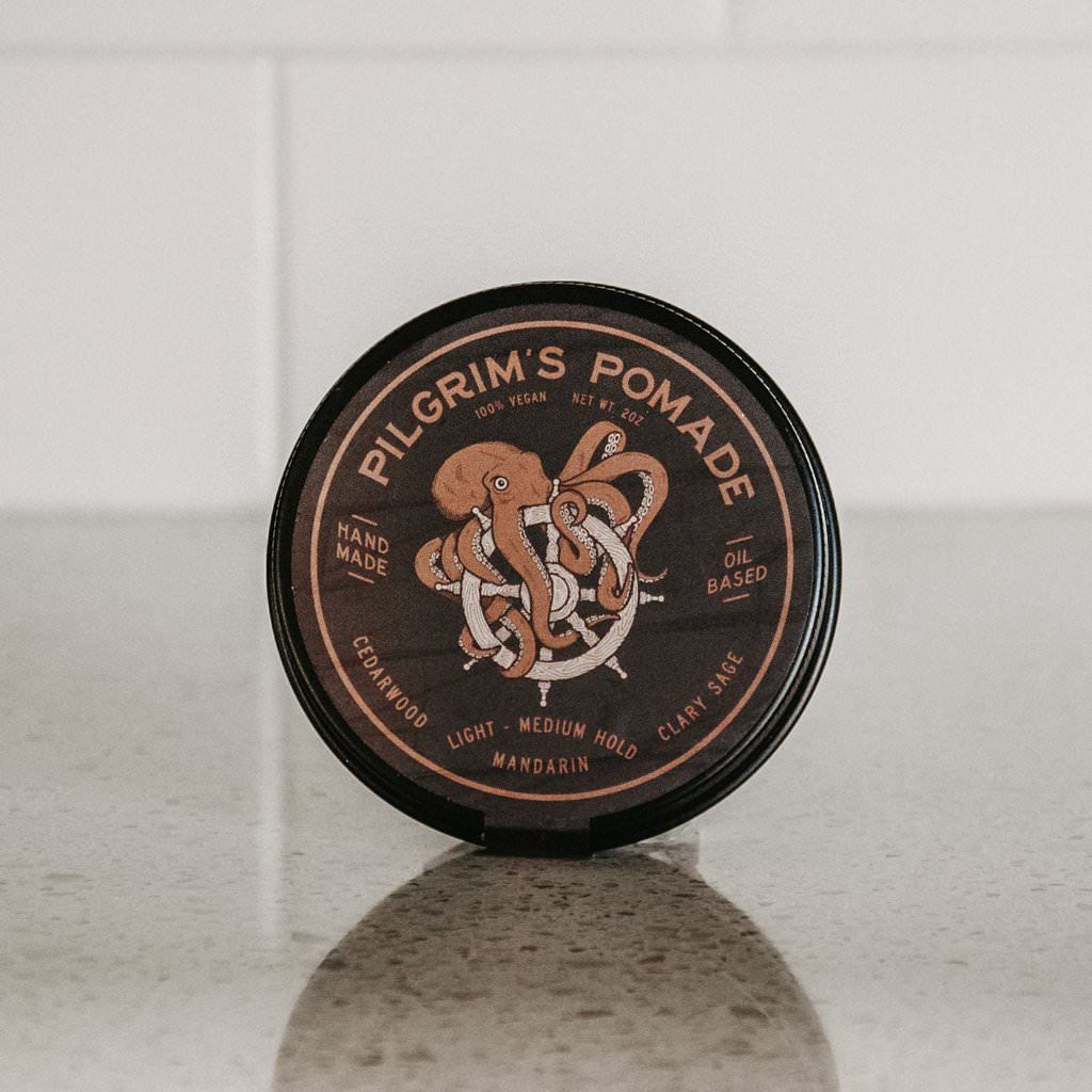 Brooklyn Grooming Pilgrim's Vegan Pomade, Mandarin and Clary Sage Hair Pomade Brooklyn Grooming Co