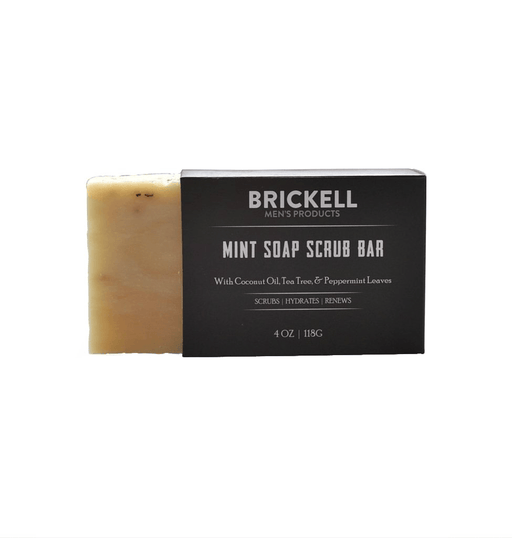 Brickell Soap Scrub Bar, Mint - Fendrihan - 1