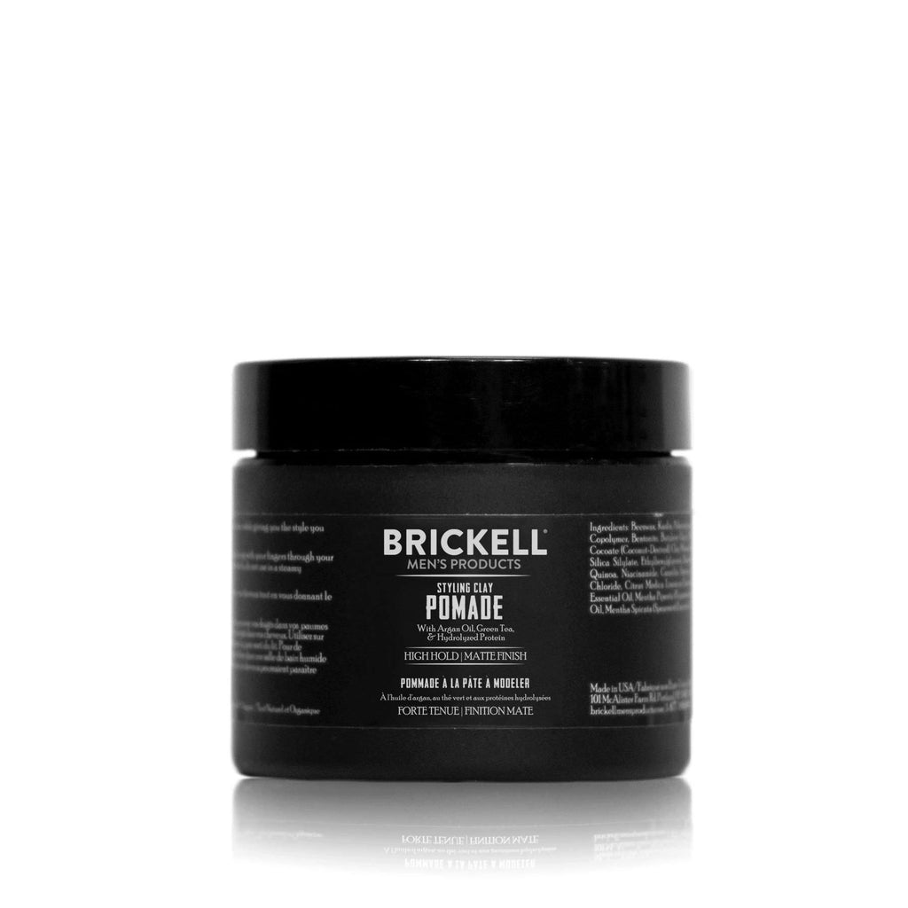 Brickell Styling Clay Pomade for Men Hair Clay Brickell