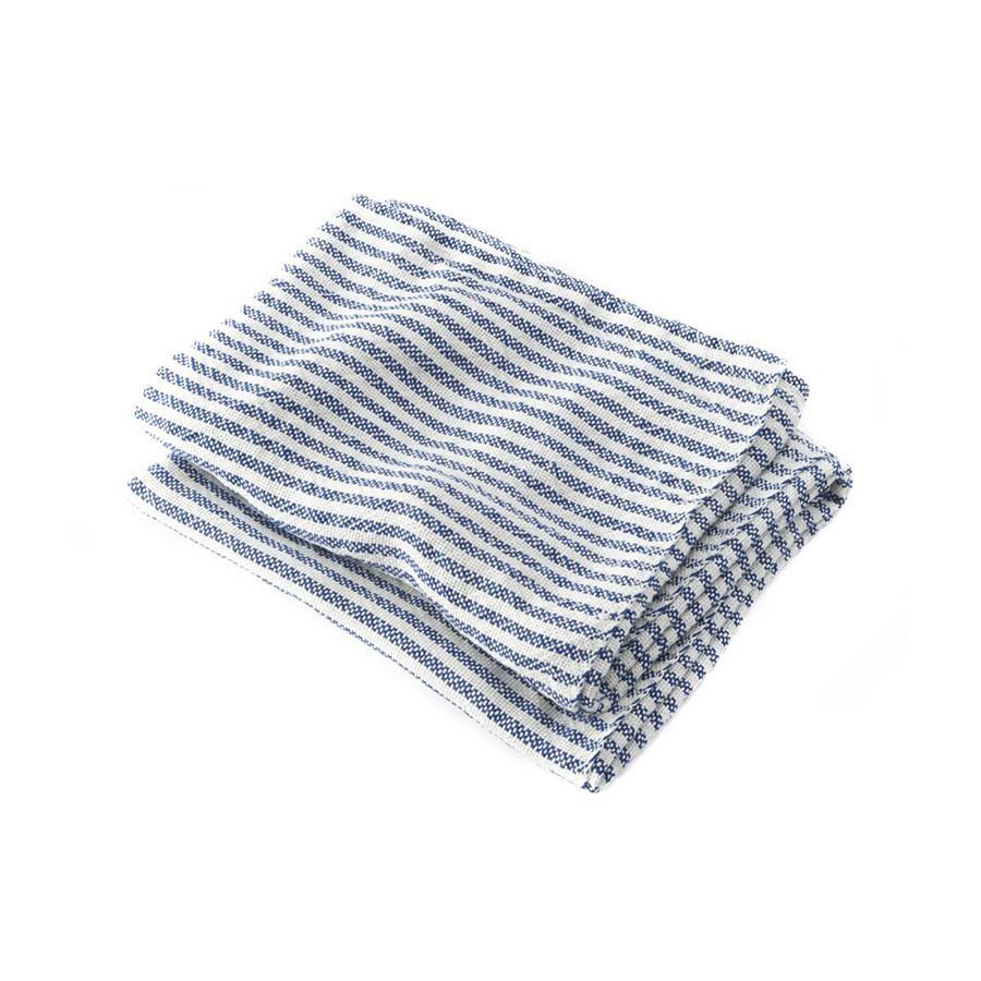 "Brahms Mount McClary Linen Towels Bath Towel Brahms Mount Blue Stripe Hand Towel (17"" x 28"")"