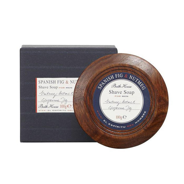 Bath House Shave Soap in Wooden Bowl - Fendrihan - 1