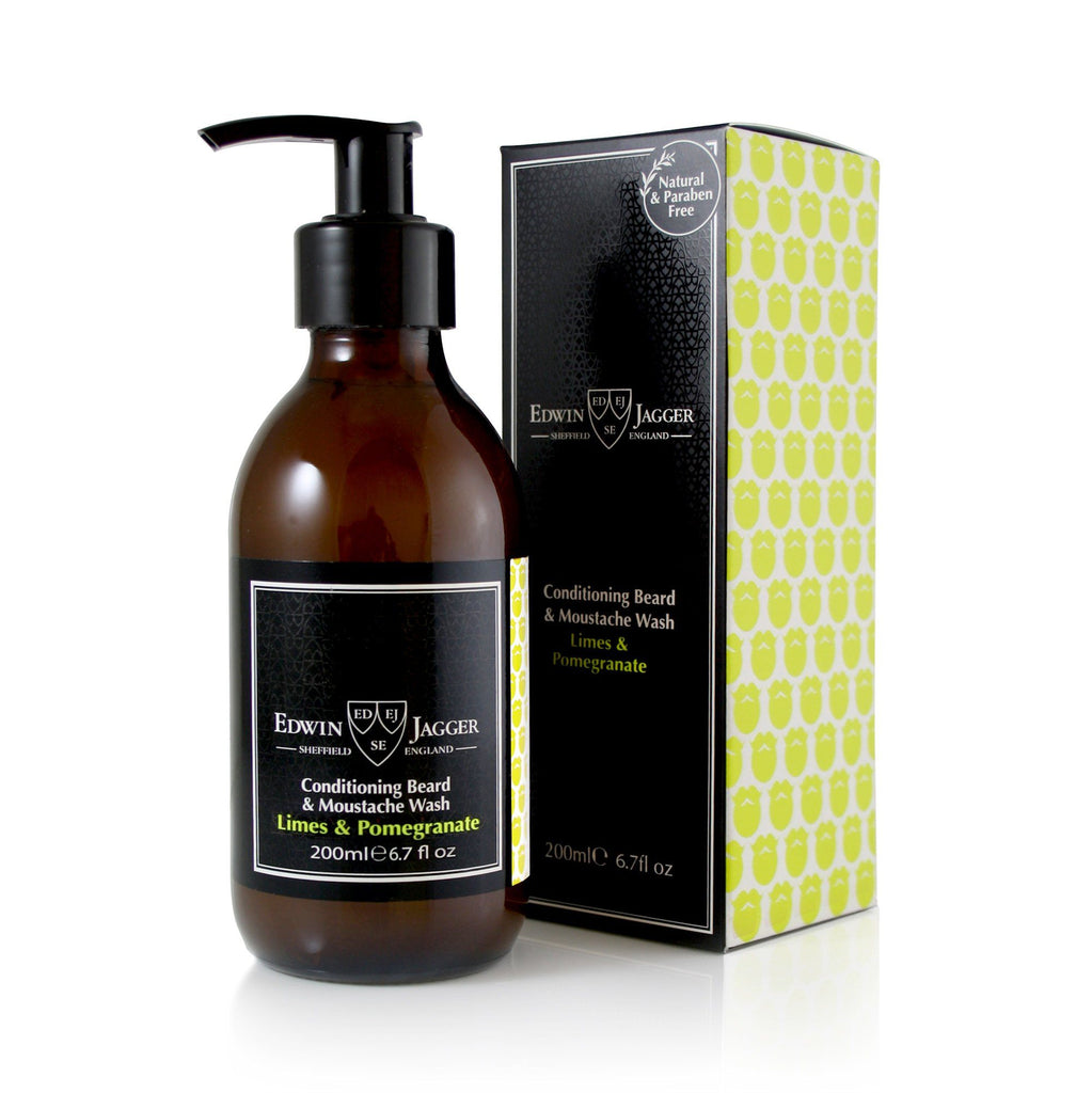 Edwin Jagger Conditioning Beard & Moustache Wash Beard Wash Edwin Jagger Limes & Pomegranate