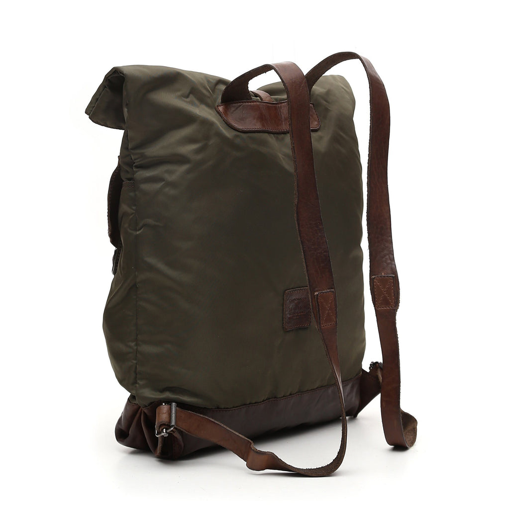 Campomaggi Bardi Backpack, Nylon and Leather Backpack Campomaggi