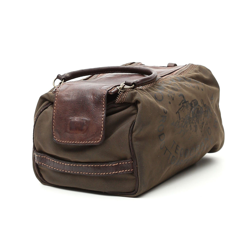 Campomaggi C2290 Toiletry Bag, Leather and Fabric with Teodorano Print