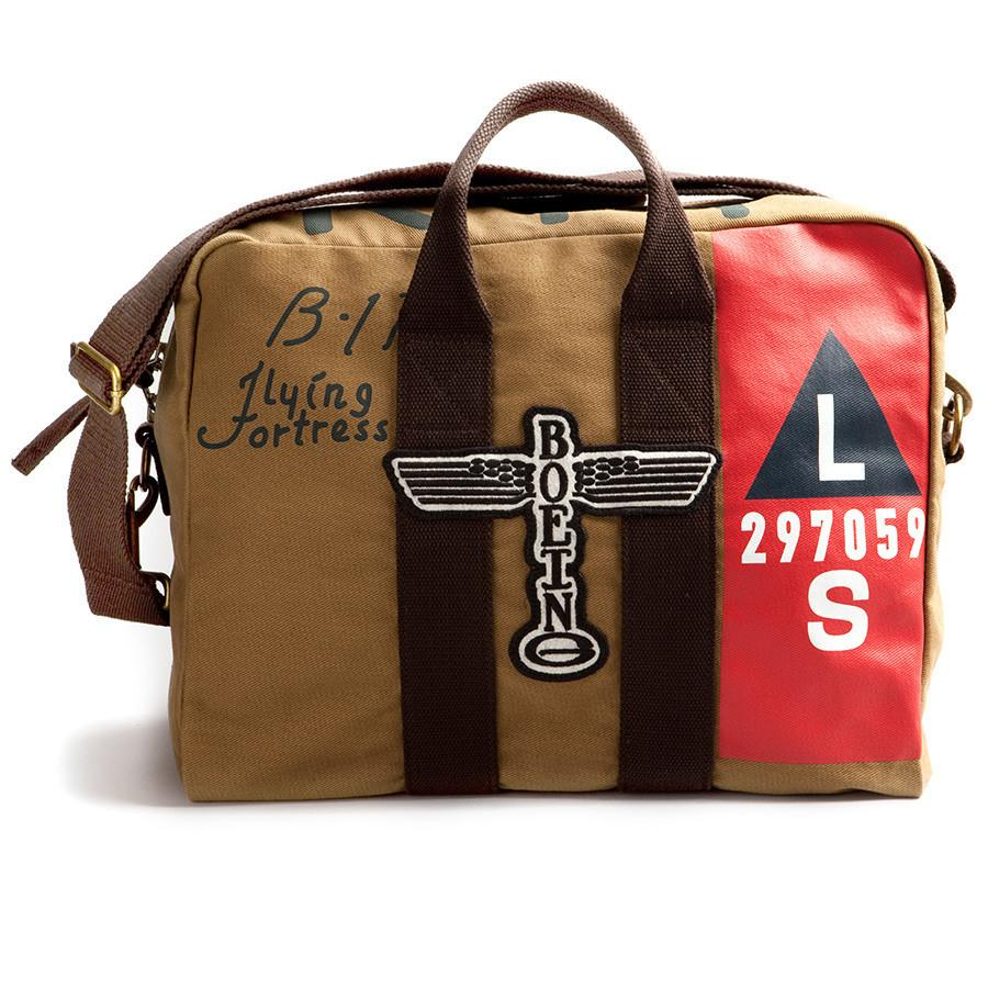 Red Canoe Boeing B17 Twill Kit Bag Leather Bag Red Canoe