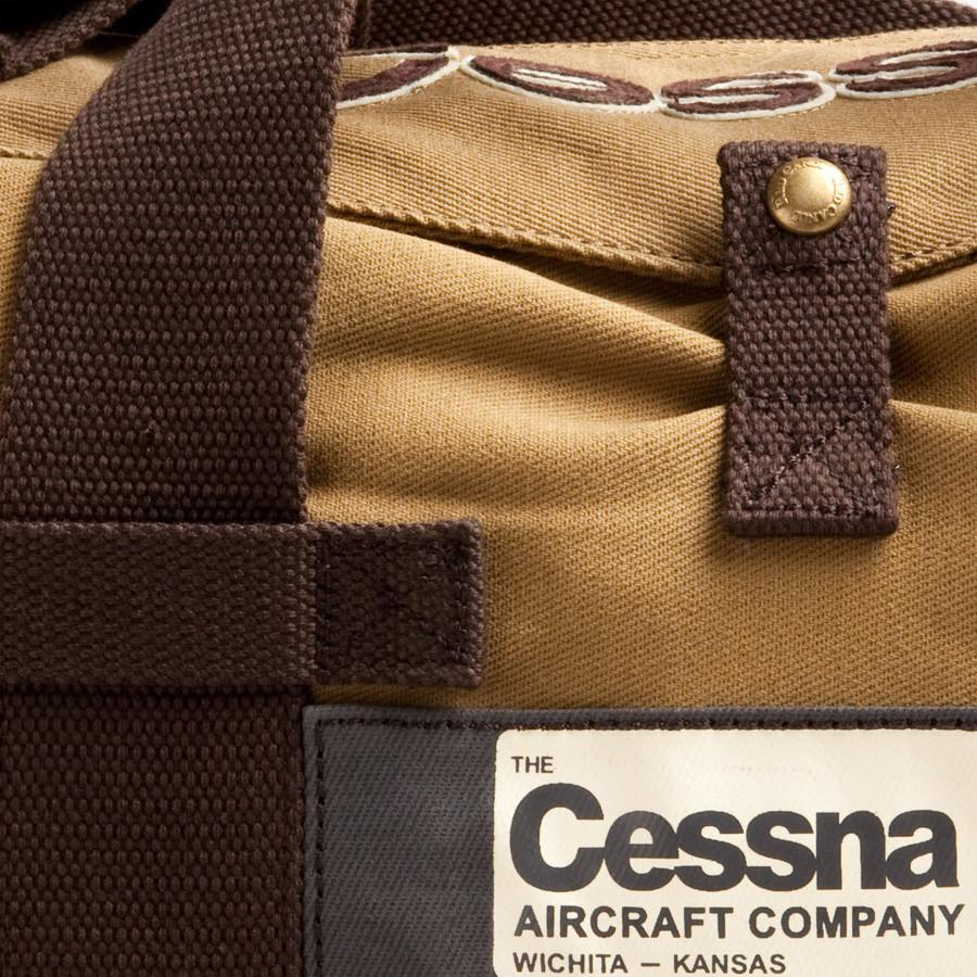 Red Canoe Cessna Canvas Stow Bag Leather Bag Red Canoe
