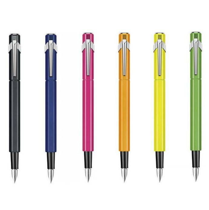Caran d'Ache 849 Fountain Pen, Yellow Fluo Fountain Pen Caran d'Ache