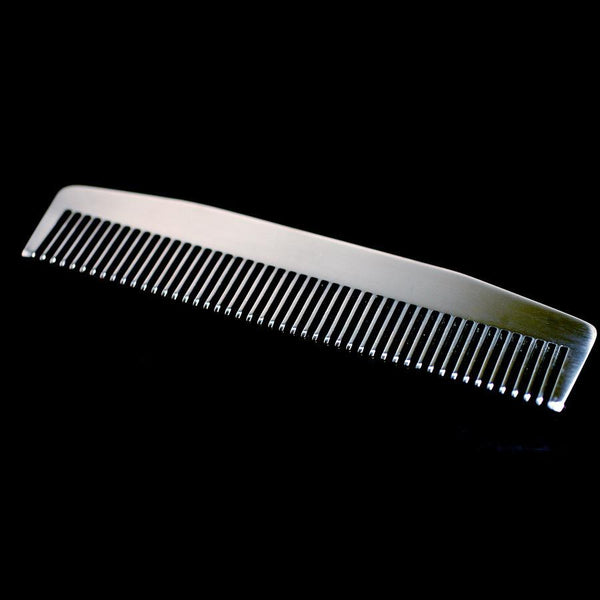 Chicago Comb Co. Model No. 3 Stainless Steel Medium-Fine Tooth Comb - Fendrihan - 2