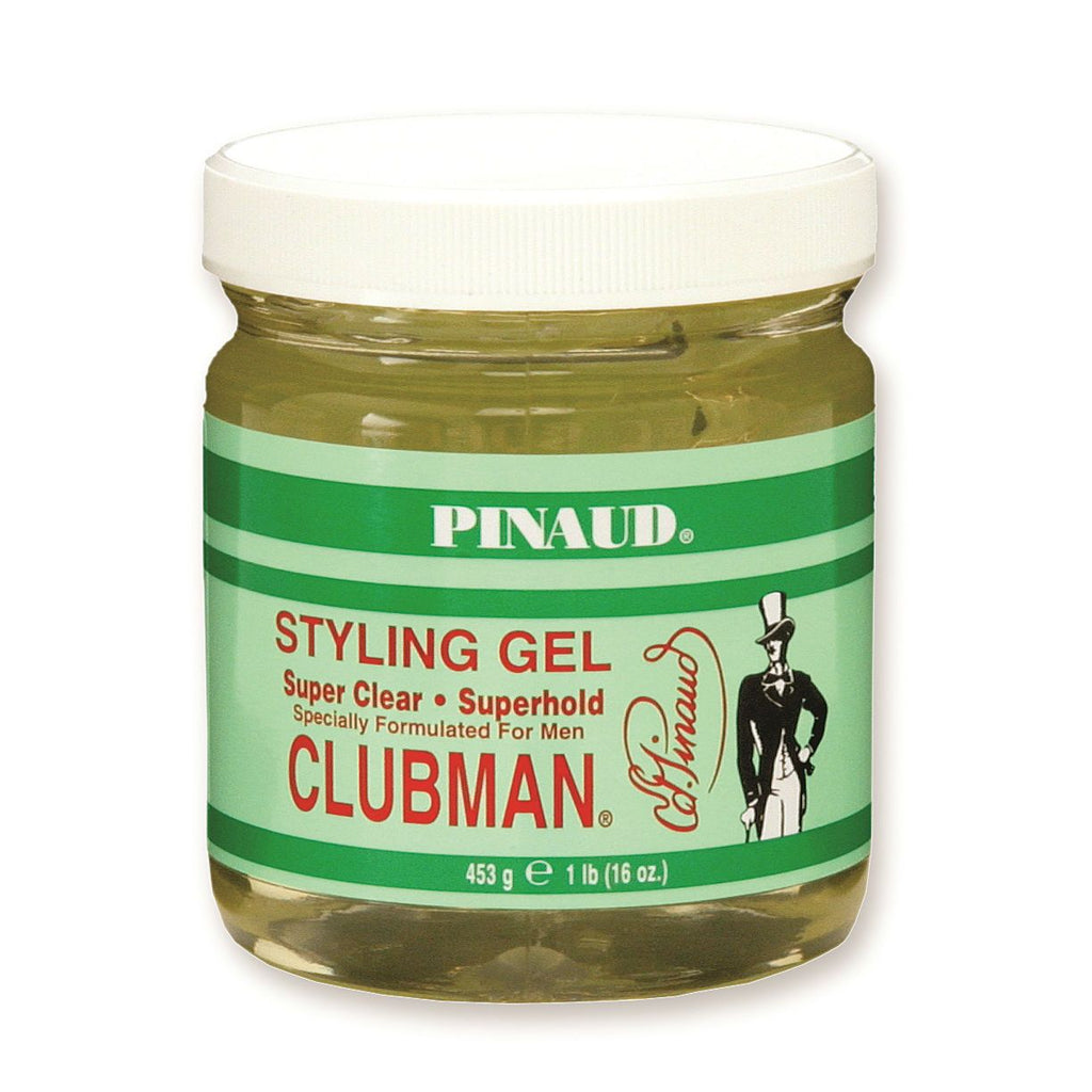 Clubman Pinaud Styling Gel Men's Grooming Cream Clubman Super Clear - Superhold