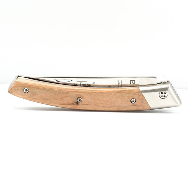 Claude Dozorme RLT 693 Le Thiers Hand-Decorated Folding Pocket Knife, Juniper Wood - Fendrihan - 2