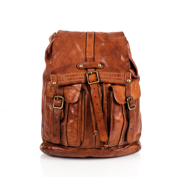 Campomaggi C06005 Leather Backpack, Cognac - Fendrihan - 1