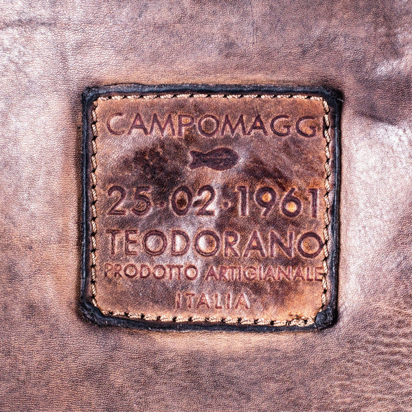 Campomaggi C1810 Italian Leather Messenger Bag, Coffee - Fendrihan - 5