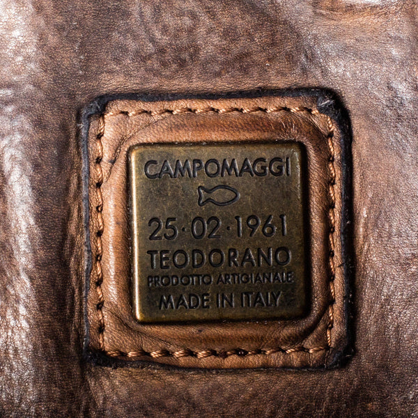 Campomaggi C1810 Italian Leather Messenger Bag, Coffee - Fendrihan - 9