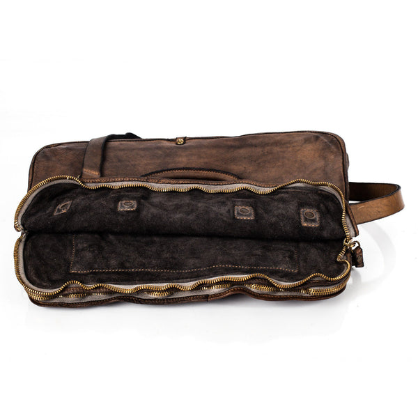Campomaggi C1810 Italian Leather Messenger Bag, Coffee - Fendrihan - 10