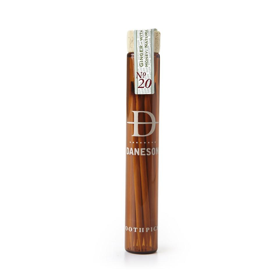 Daneson Naturally Flavored Toothpicks, Ginger Honey Nº 20 Toothpicks Daneson