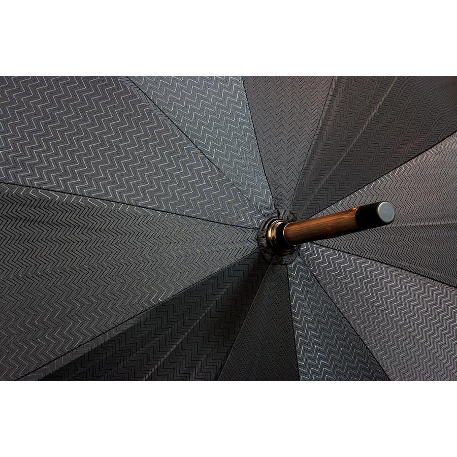 Doppler Orion Gentlemen's Umbrella with Chestnut Handle, Black Waves Umbrella Doppler
