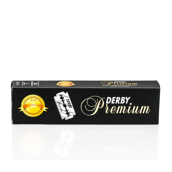 100 Derby Premium Double-Edge Stainless Safety Razor Blades, Made with Swedish Steel - Fendrihan - 1