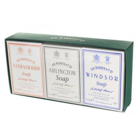 D.R. Harris Arlington, Sandalwood & Windsor Bath Soap Trio Body Soap D.R. Harris & Co