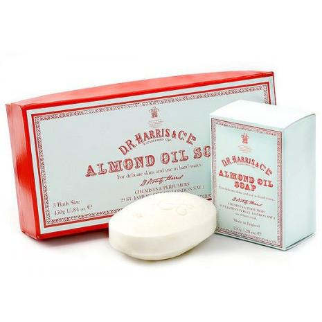 D.R. Harris Old English Almond Oil Soap, Bath Size, Pack of 3 - Fendrihan
