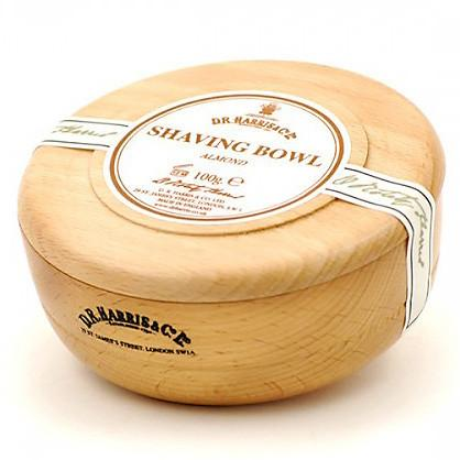 D.R. Harris Almond Shaving Soap in Beech Wood Bowl Shaving Soap D.R. Harris & Co