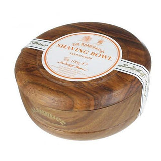 D.R. Harris Sandalwood Shaving Soap in Mahogany Color Wood Bowl Shaving Soap D.R. Harris & Co