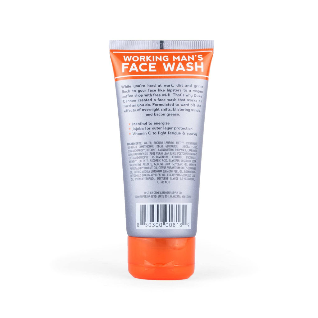 Duke Cannon Working Man's Face Wash Face Wash Duke Cannon Supply Co