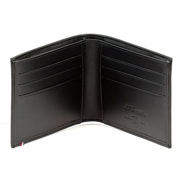 S.T. Dupont Line D Leather Billfold with 6 CC Slots, Elysee Black - Fendrihan - 1