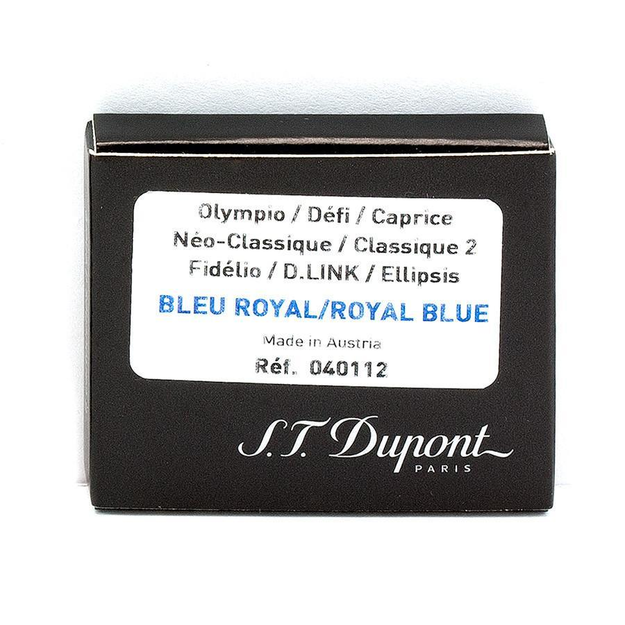 S.T. Dupont Fountain Pen Ink Cartridges, 6-pack Ink & Refill S.T. Dupont Royal Blue