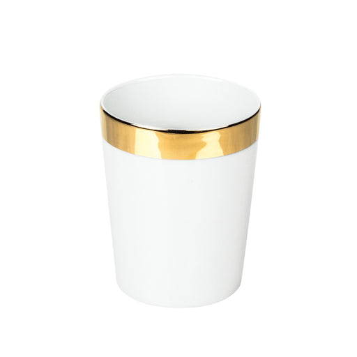 Decor Walther Porcelain White Tumbler, Gold or Platinum