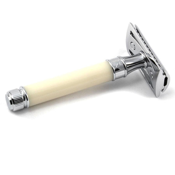 Edwin Jagger Classic Double-Edge Safety Razor in Ivory - Fendrihan - 2