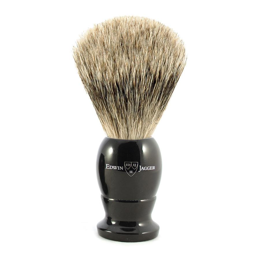 Edwin Jagger Best Badger Shaving Brush and Stand in Ebony, Medium - Fendrihan - 3