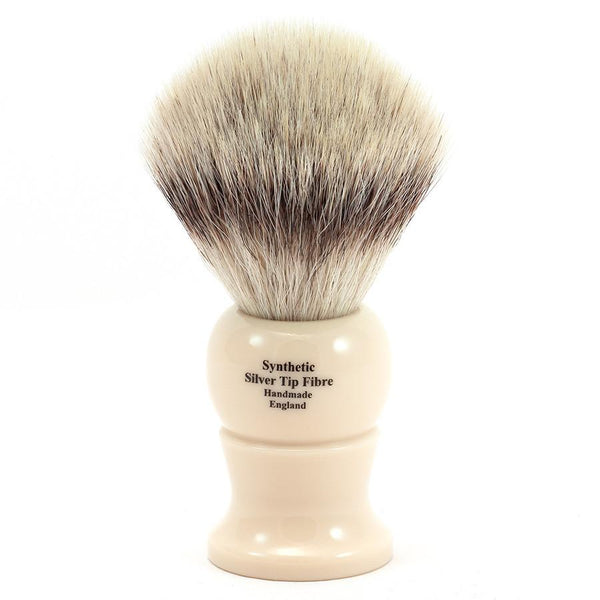 Edwin Jagger Synthetic Silvertip Fibre Handmade English Shaving Brush in Ivory, Large - Fendrihan - 2