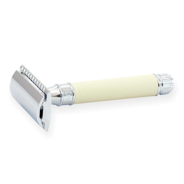 Edwin Jagger Classic Double Edge Safety Razor, Rubber Coated Handle - Fendrihan - 3