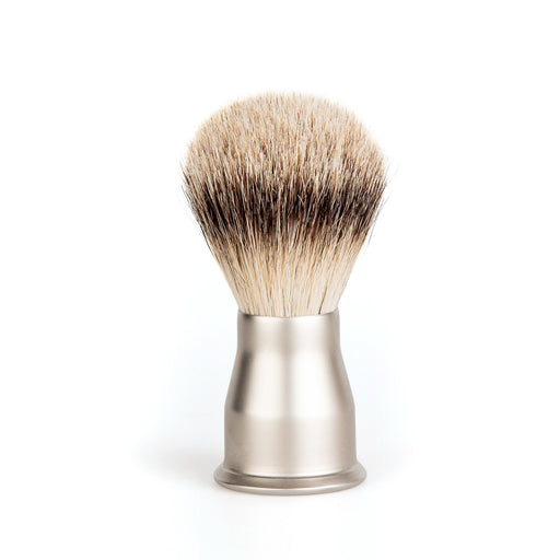 Erbe Solingen Silvertip Shaving Brush, Matte Handle