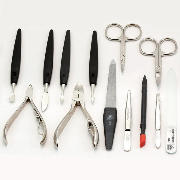Erbe Solingen 13-Piece Imperial Manicure Set, Nappa Leather Black Snap Case - Fendrihan - 3