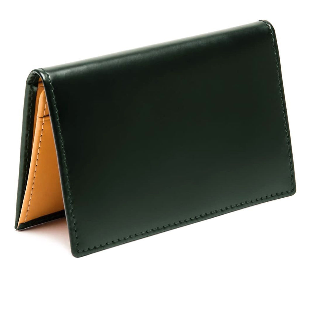 Ettinger Bridle Hide Business Card Case Leather Wallet Ettinger Green